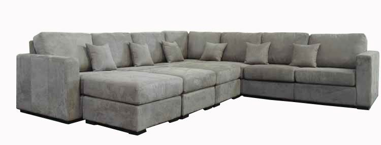 Grey Sectional | FORENZA A Modern Microfiber Or Leather Sectional Sofa ( Couch) Set