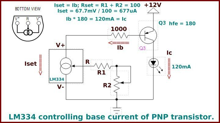 Lm334 constant current source controlling a pnp transistor lm334 constant current source controlling a pnp transistor publicscrutiny Gallery
