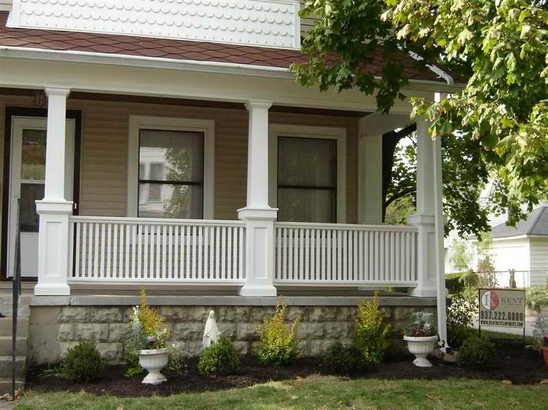 Exterior porches column ideas front porch columns for Front porch patio ideas
