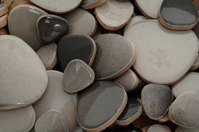 Black Grey Mix Ceramic Pebbles Best Australian Online Mosaics Supplier For Mosaic Tiles