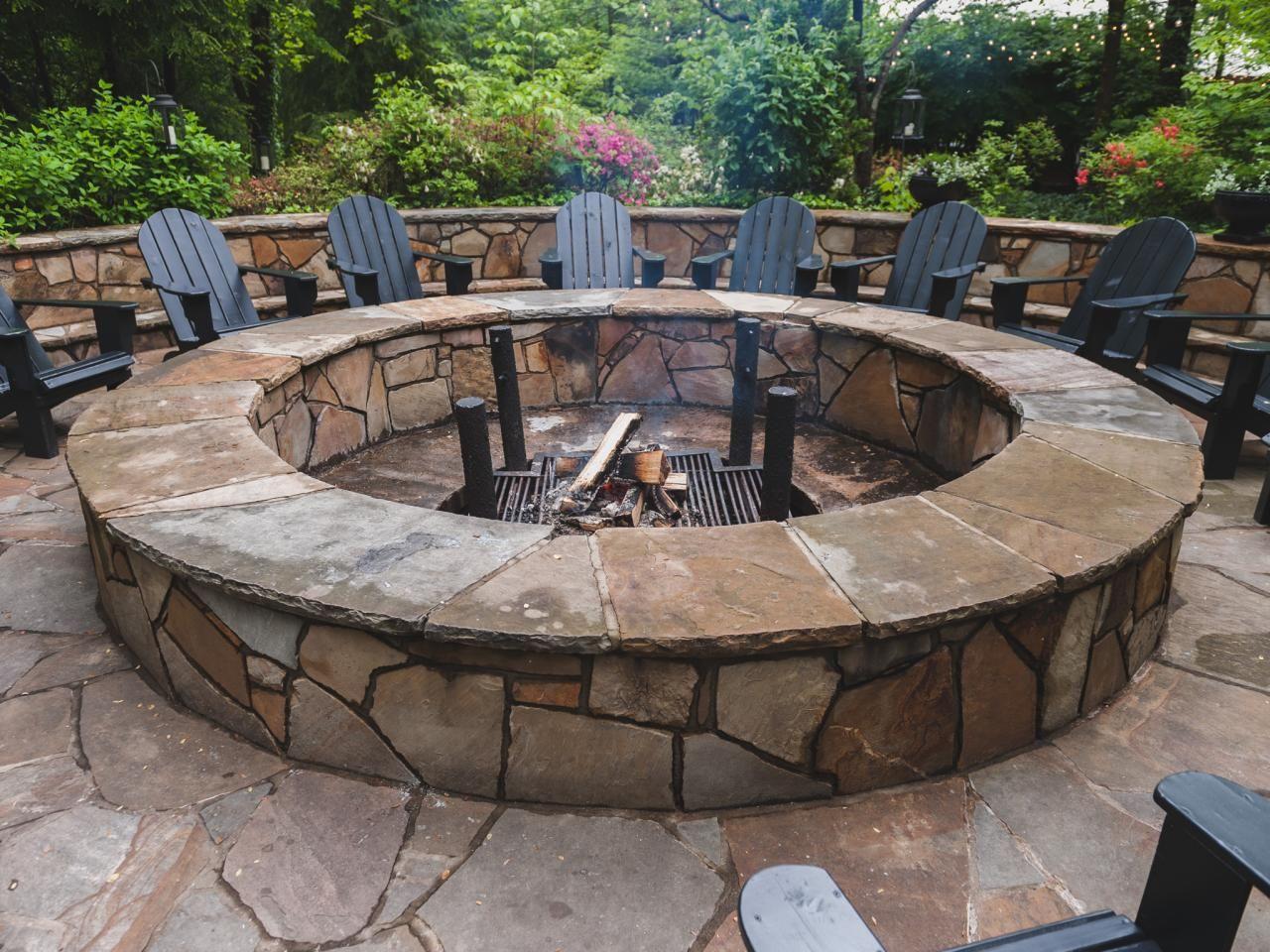 round stone fire pit fire pits pinterest stone