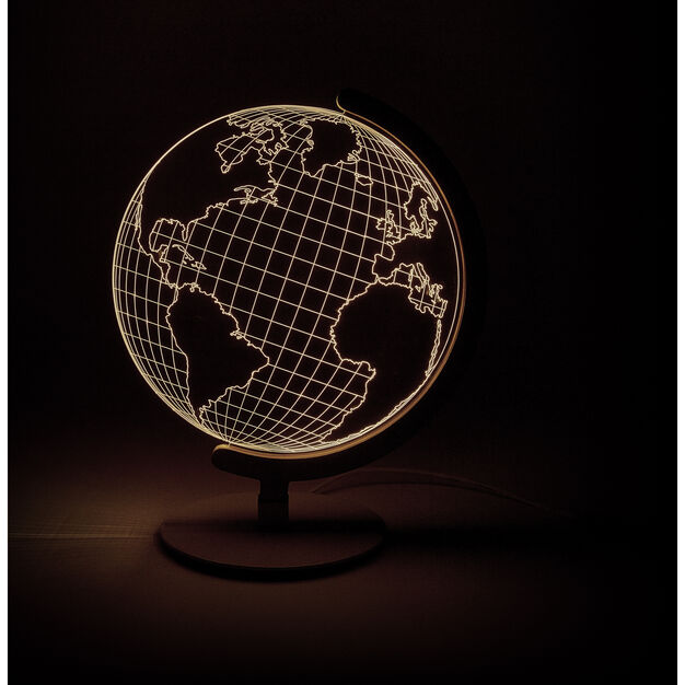 Globe Table Light In Color Light Table Globe Lights Table Lamp Lighting