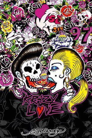 Ed Hardy Krazy Love Skulls Amp Skeletons Ed Hardy