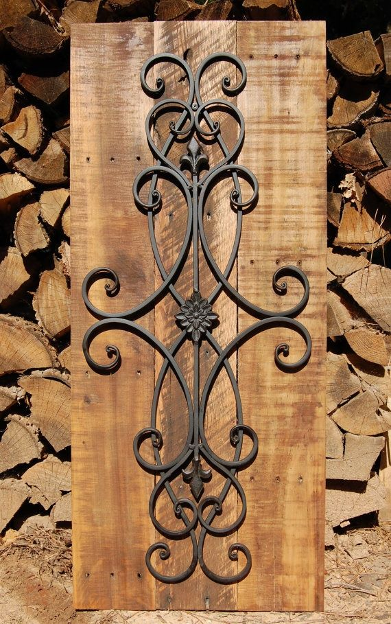 Wrought Iron Plays A Large Role When Accessorizing A Spanish Colonial Home.  Decorative Rustic Iron Scroll Wall Art By LooneyBinTradingCo On Etsy