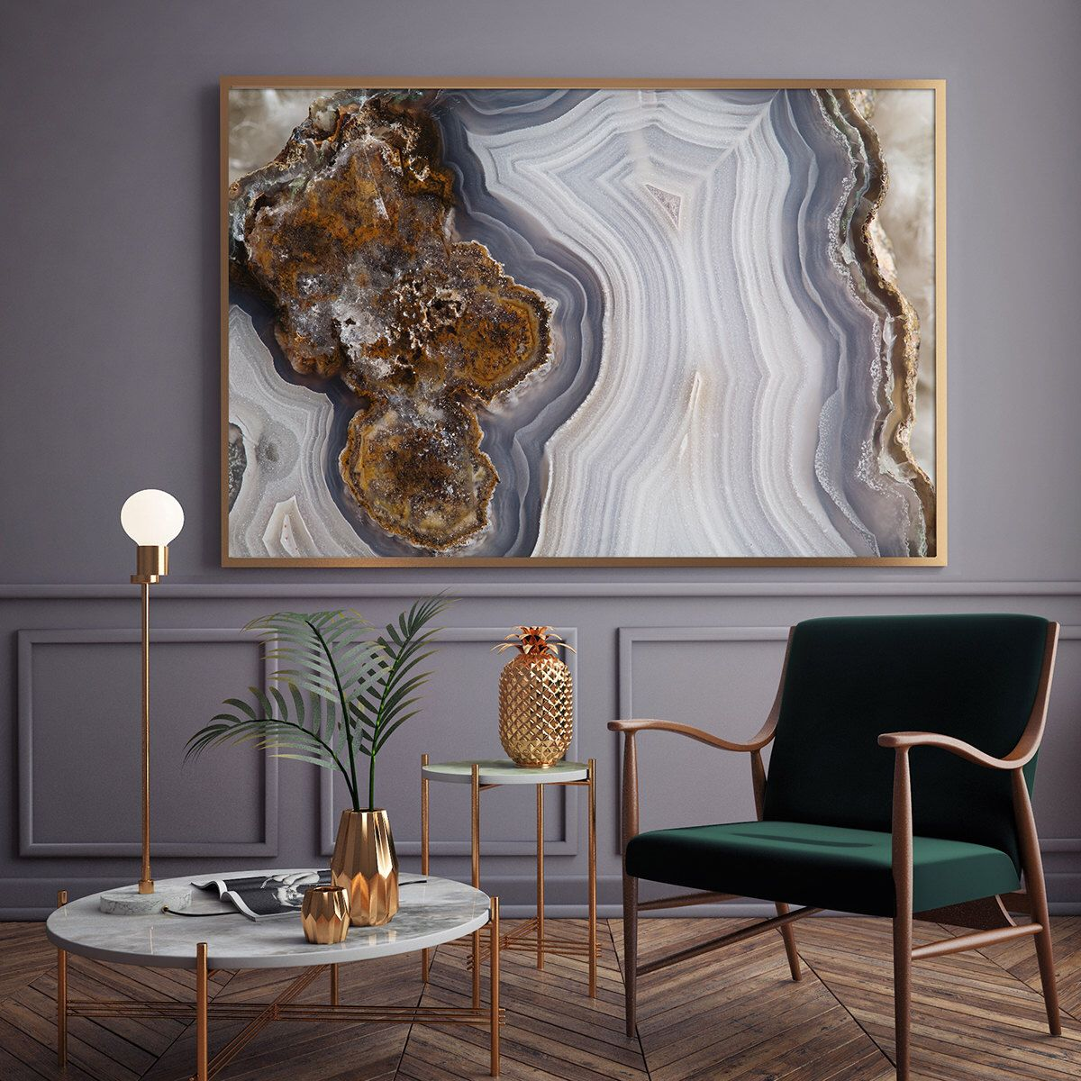 Mineral Photography - (Print # 056) Agate Slab - Choose Fine Art Print or