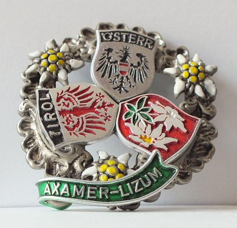 Axamer Lizum Austria Tirol Pin Enamel Vintage by JOWA