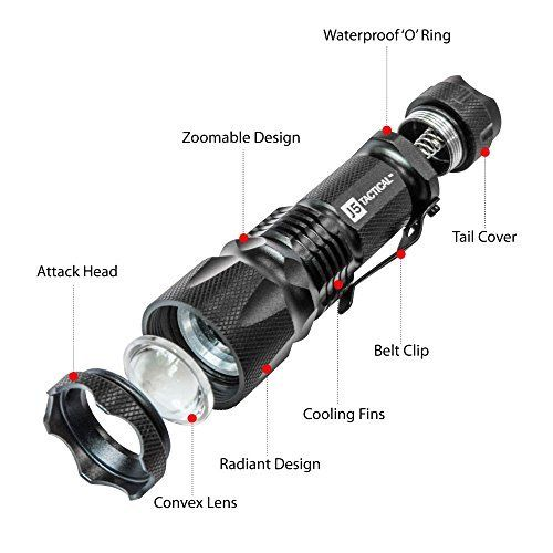 J5 Tactical V1-Pro Flashlight The Original 300 Lumen Ultra Bright, LED 3 Mode Flashlight. Get Yours Here: http://amzn.to/2sVmO9W