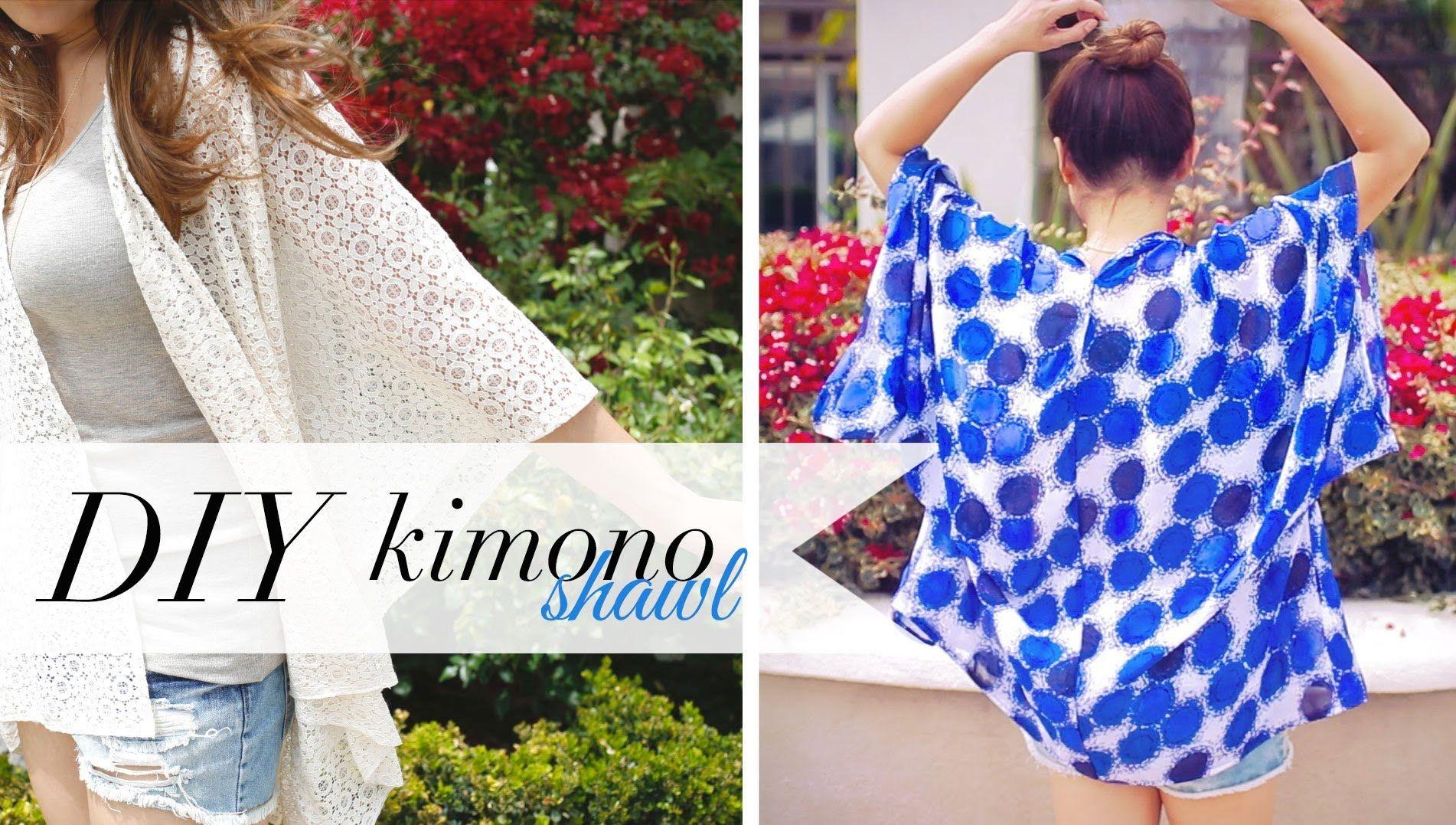 2546eb9b1b DIY Kimono Shawl - Music Festival   Beach Coverup