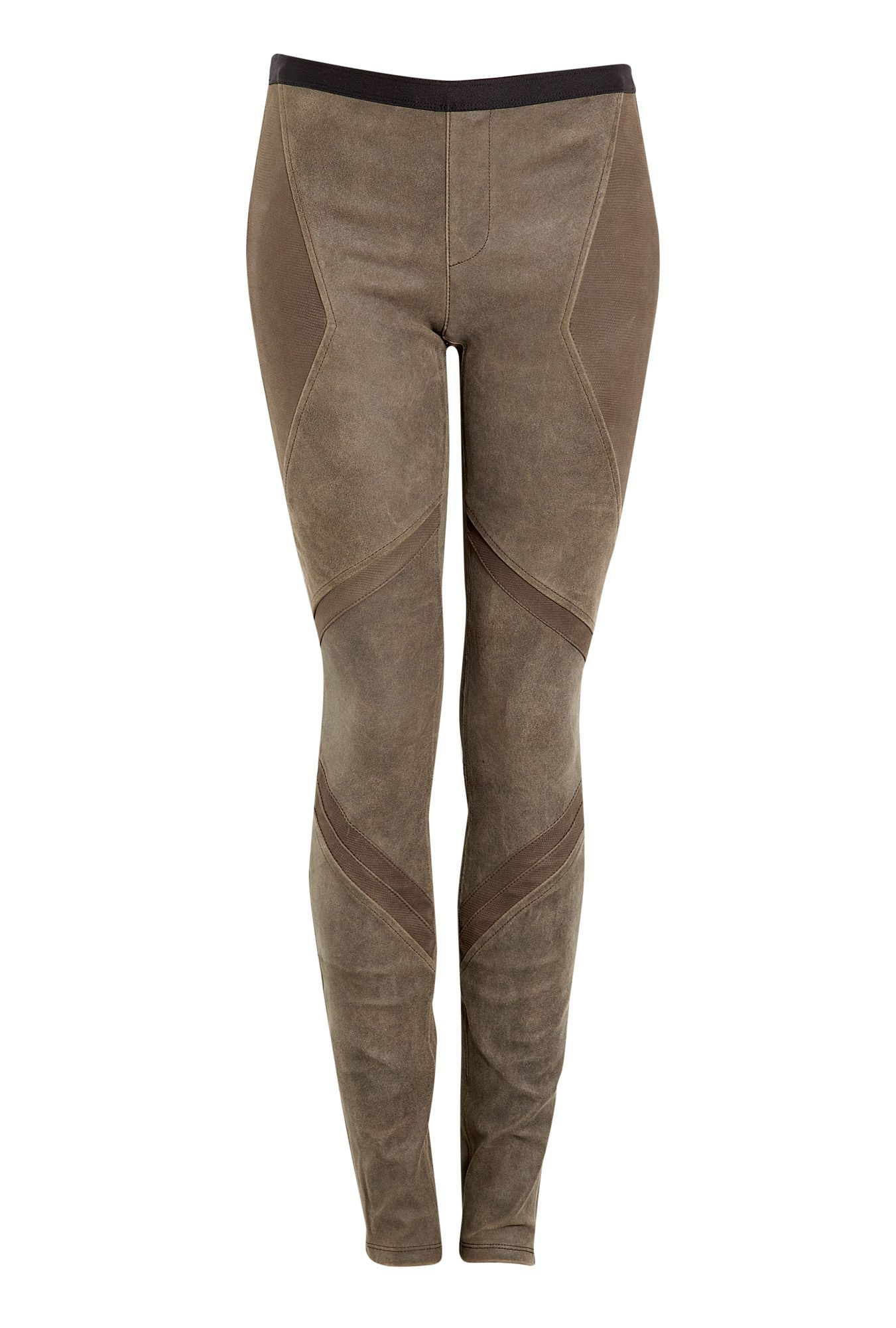 HELMUT LANG PATINA STRETCH LEATHER ARMOUR PANEL LEGGINGS   BEAUTIFUL ... a91f0fdeae