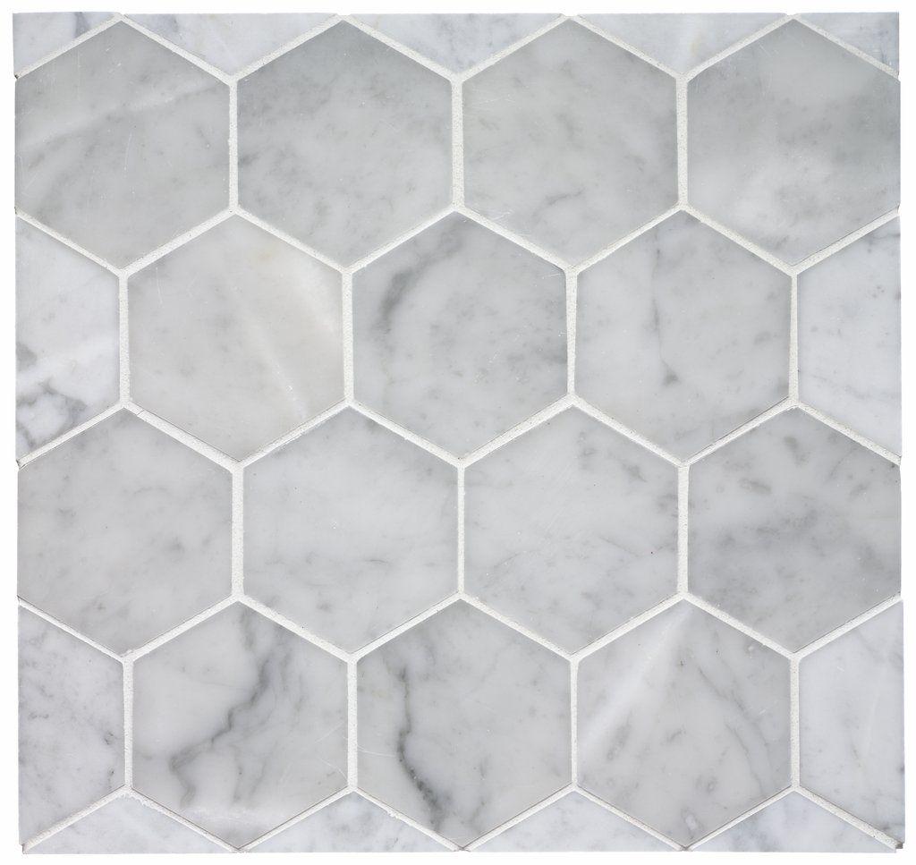 Keystone 3 7 8 Hexagon Mosaic From Waterworks Hex Tilehexagon Tilesmarble