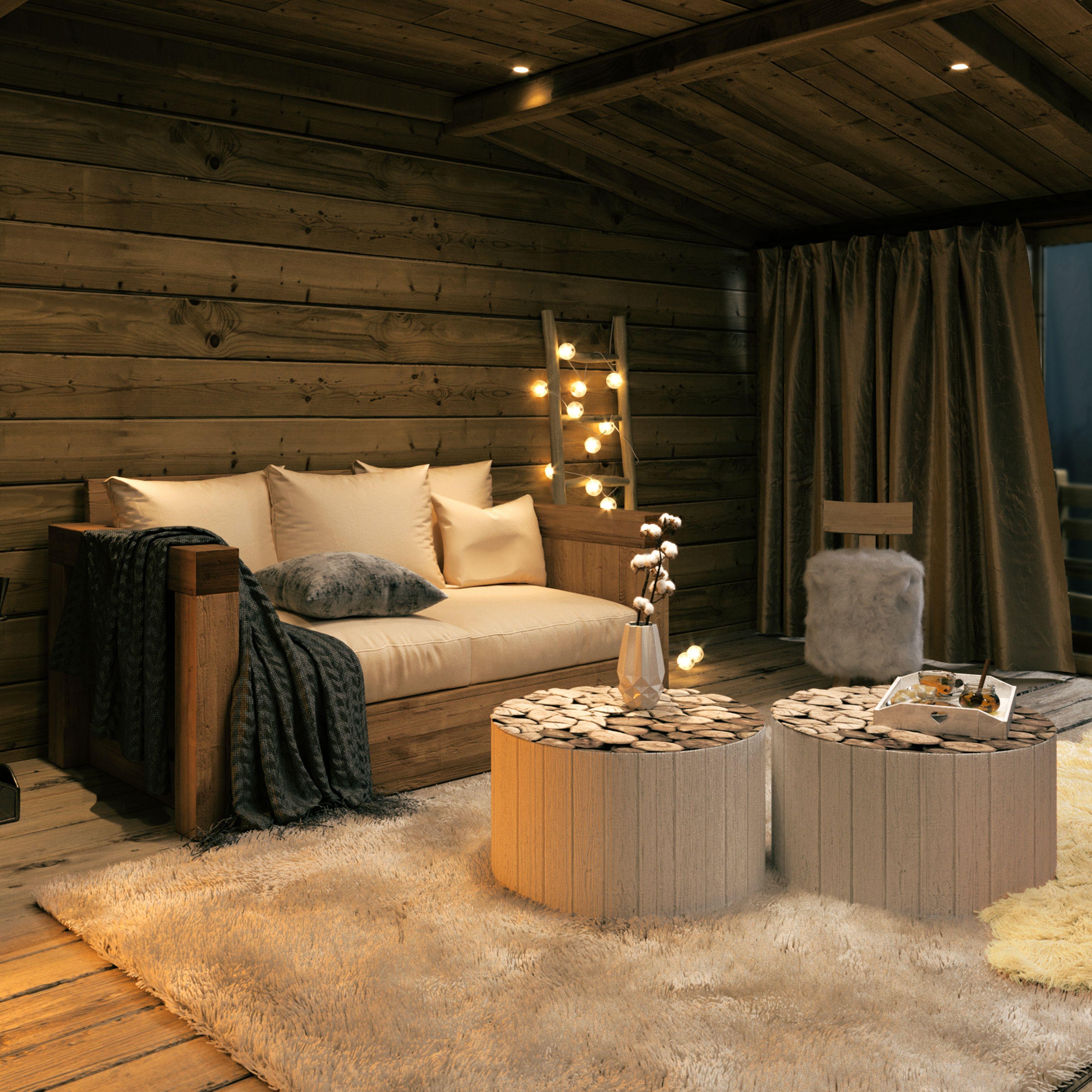 Creez Votre Ambiance Cocooning Montagne Avec Grenier Alpin Decoration Salon Chalet Deco Cocooning Deco Chalet Montagne