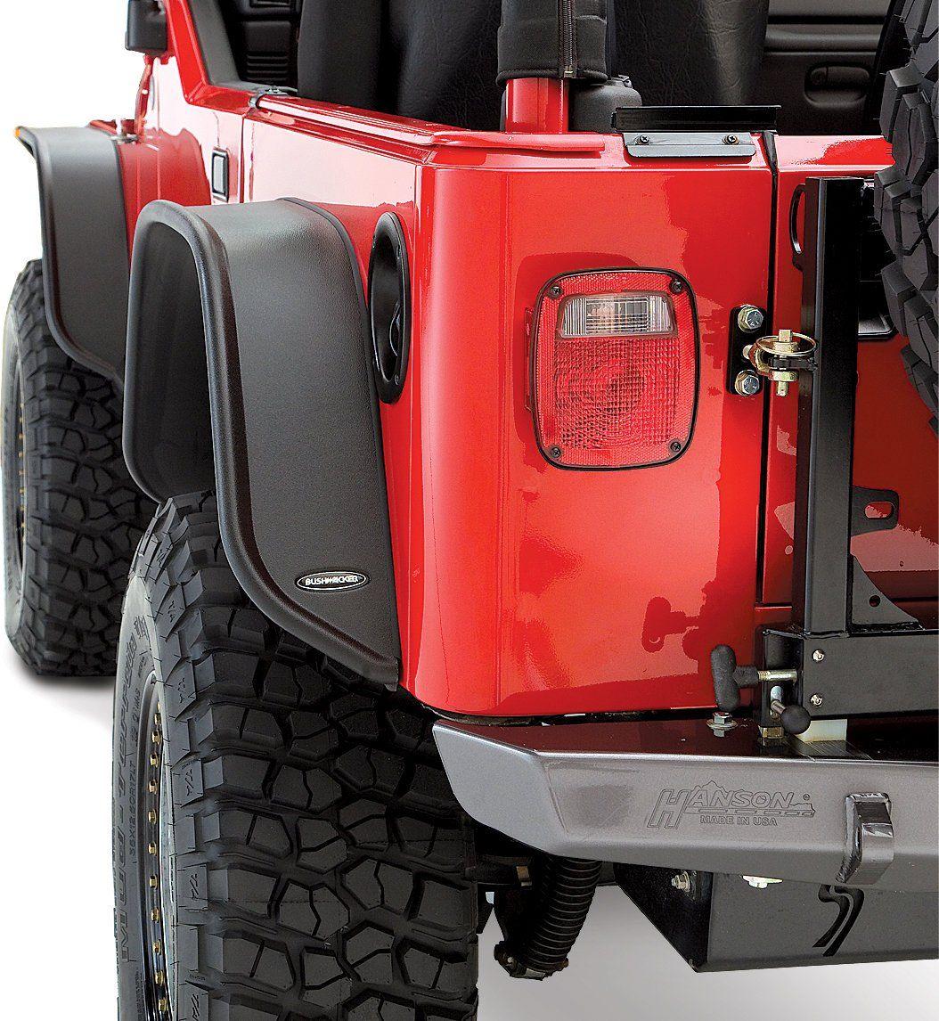 Jeep Wheel Tire Packages Quadratec >> Bushwacker 10920 07 Flat Style Flares For 97 06 Jeep Wrangler Tj