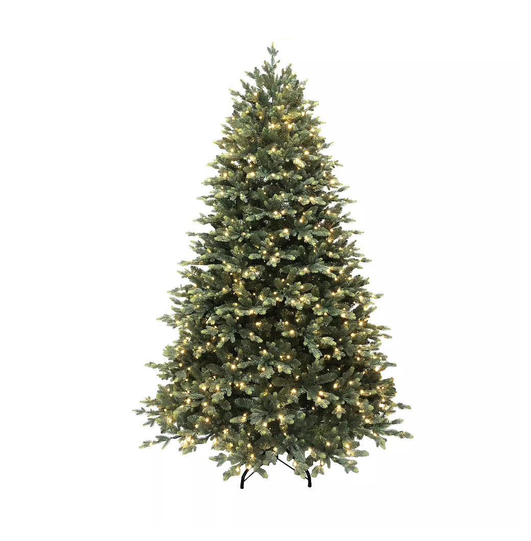 Puleo 7 5ft Pre Lit Memory Wire Christmas Tree Green Woolly Bush Christmas Tree Woollybushchr In 2020 Pre Lit Christmas Tree Green Christmas Tree Christmas Tree