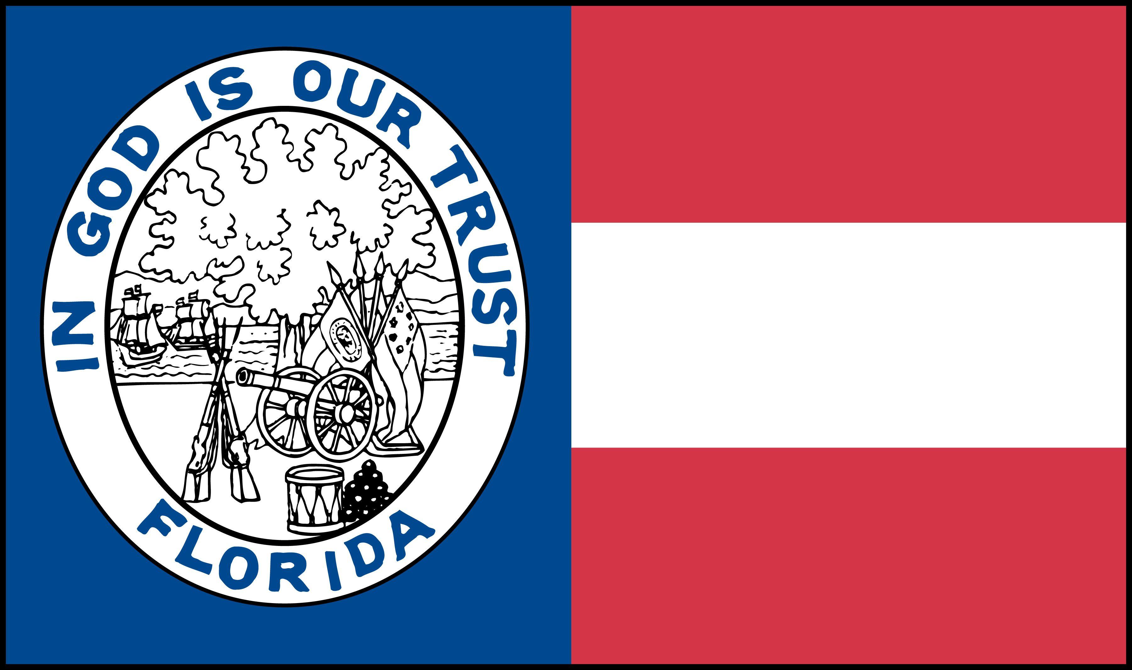 The 1861 Florida State Flag Civil War Flags War Flag Florida State Flag