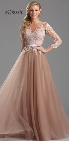 bd3e95d7947b Emit your elegance and feminine beauty in this long lace prom dress. In  this gorgeous gown you will captivate the crowds with your  right-of-the-red-carpet ...