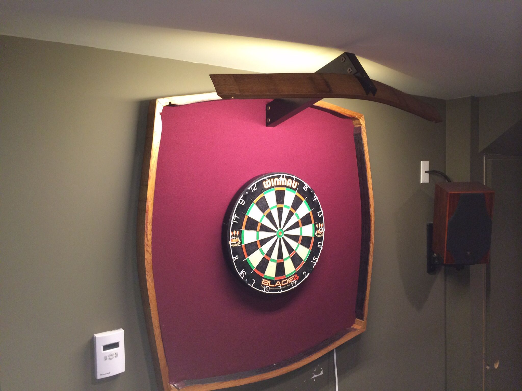 Wine Stave Dartboard Light And Surround Dartboard Light Diy Home Decor Projects Dart Board
