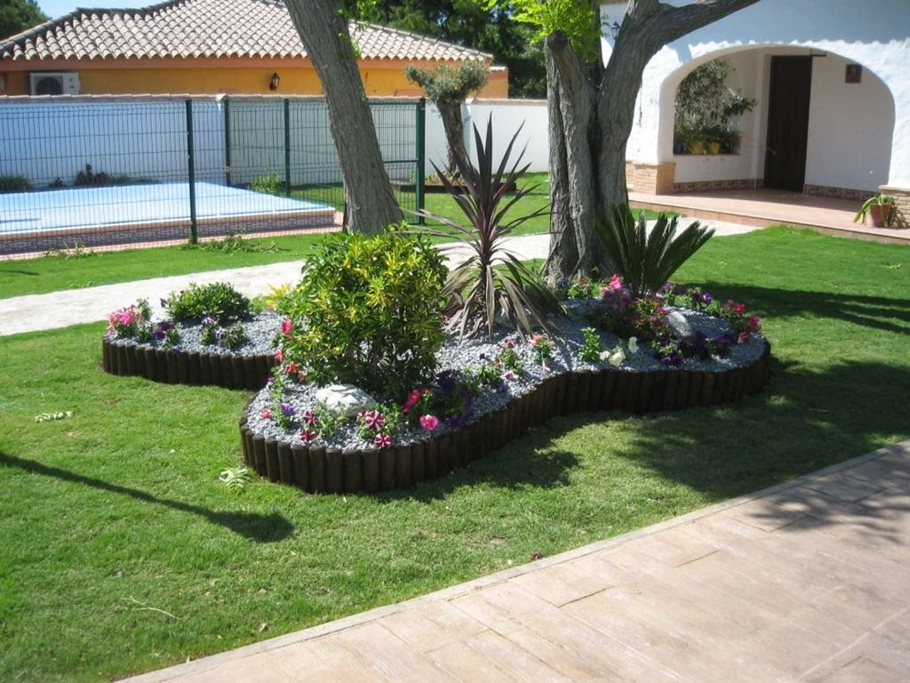 Decoracion de patios exteriores patio con paredes for Adornos para decorar jardines