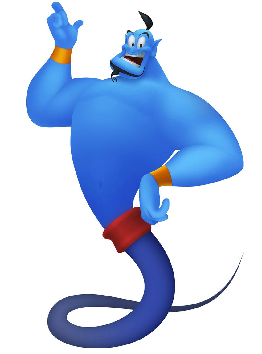 Genie. voiced by Robin Williams. Watched the night before his death ... for Aladdin Genie Clipart  568zmd