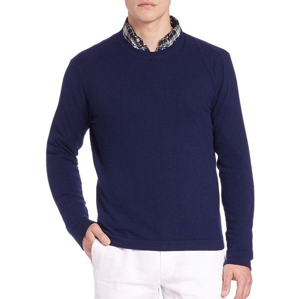 Polo Ralph Lauren Long Sleeve Cashmere Tee ( 375) ❤ liked on Polyvore  featuring men s fashion, men s clothing, men s shirts, men s t-shirts and  apparel   ... 2ca5d6243b0b