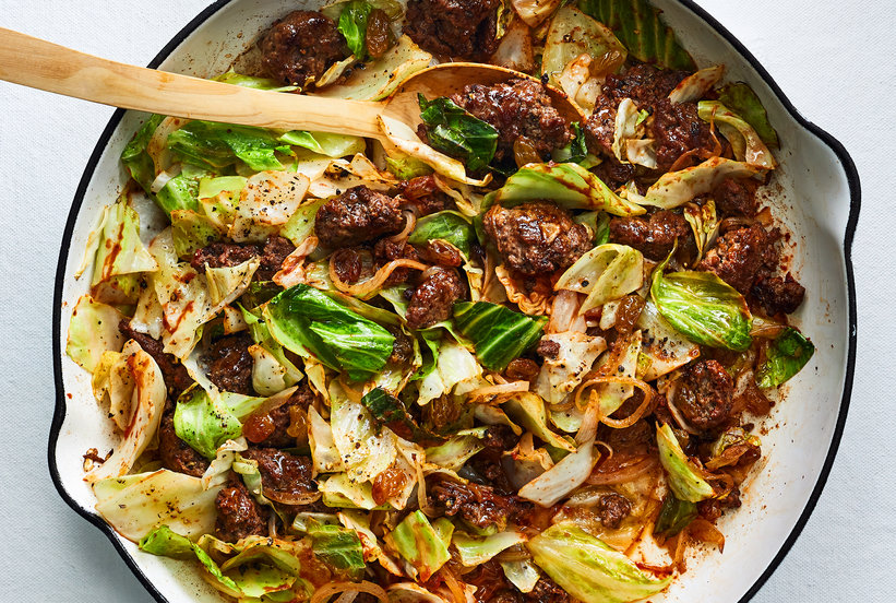 Beef And Cabbage Skillet Supper Recipe Beef Recipes Supper Recipes Beef