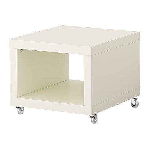 ikea lack desserte roulante blanc peut tre d plac e facilement gr ce aux roulettes 1. Black Bedroom Furniture Sets. Home Design Ideas