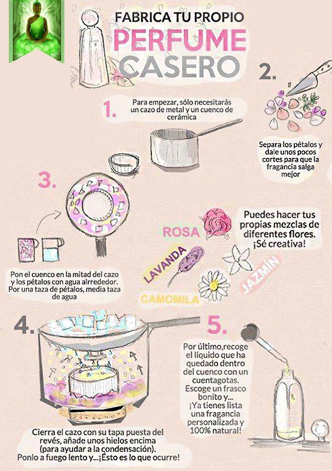 Fabrica tu propio perfume casero.