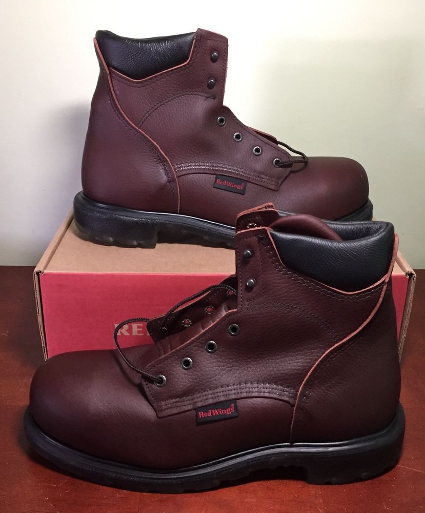 94ab84a61e3 Red Wing Boots 2406 Steel Toe Safety Work Boots Leather New in Box ...