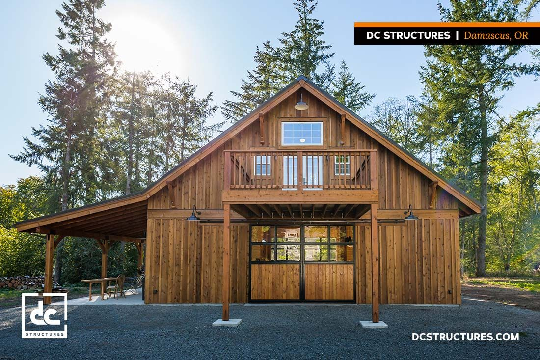 This Oakridge Kit Is Being Used As A Party Barn In This Oregon Families Backyard We Couldn T Think Of A More Perfect Barn Apartment Barn Kits Barn House Kits