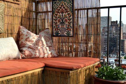 Rieten Balkon Meubels : Balkon afschermen met rieten matten meubels