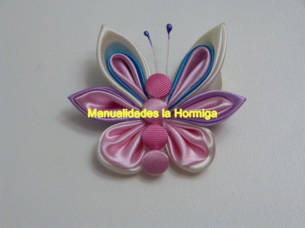 Pin De Manualidades La Hormiga En Accesorios Paso A Paso En Youtube Mariposas De Tela Adornos