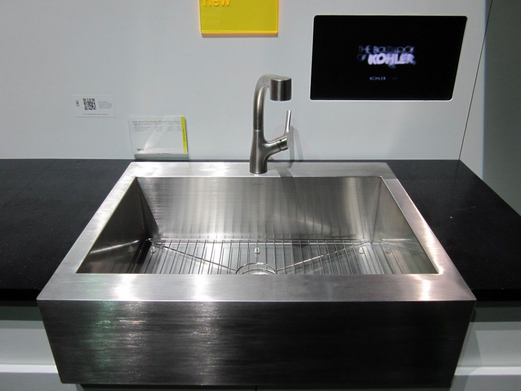 Kohler Kitchen Sinks And Washing With A Square Shape