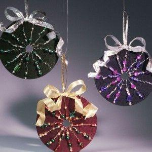 adornos de navidad con cds y dvds reciclados ms