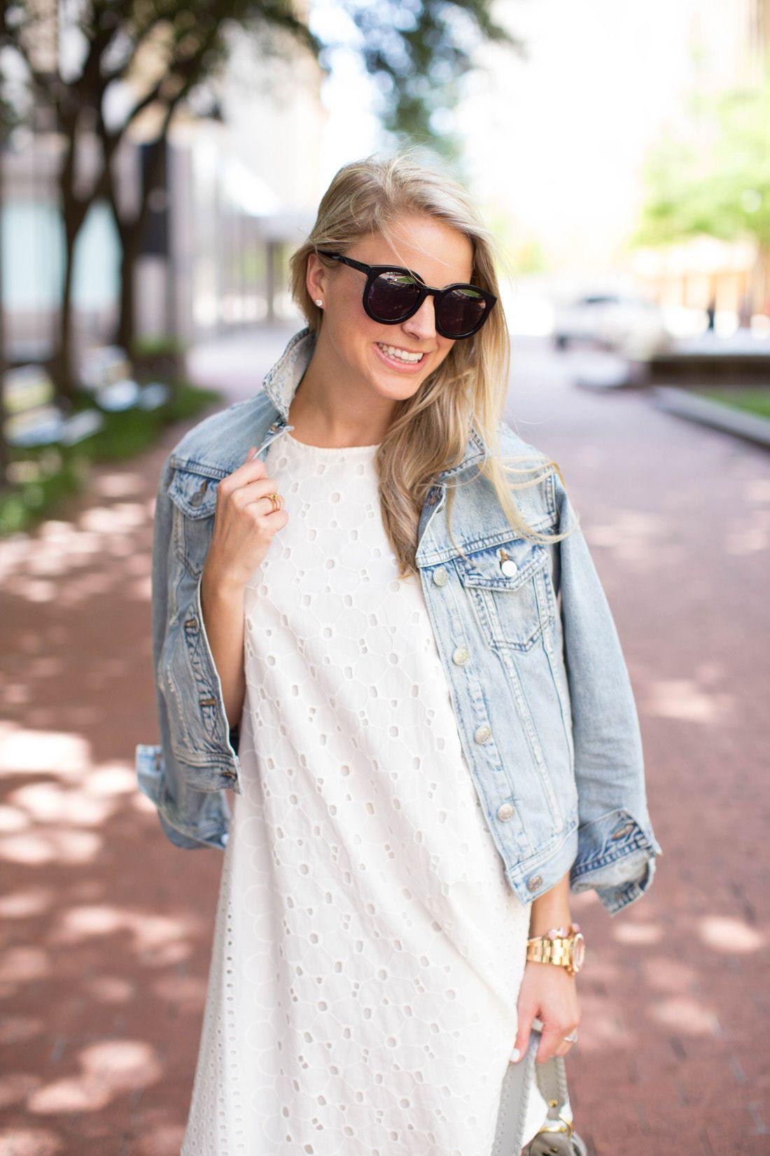 a2b002fecd7 White Eyelet Dress By Styled Snapshots
