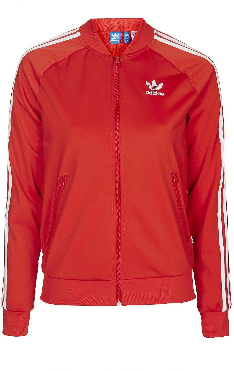 25d91ce32159 Womens poppy super girl track top jacket by adidas originals - red ...