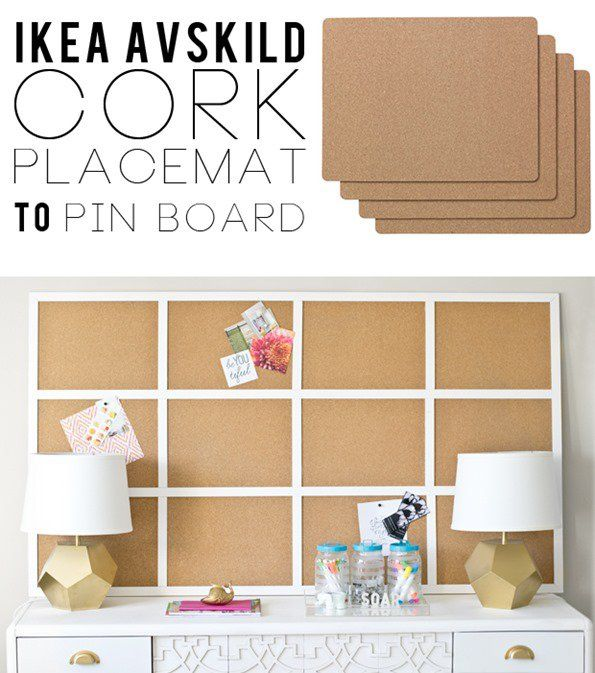 IKEA Placemats to Framed Cork Board | Cork, Pin boards and ...
