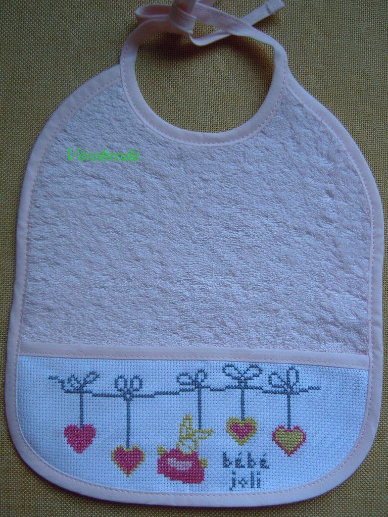 grille broderie bavoir bébé 10 | Bavoirs, Bavoir bébé, Modèles de point de croix