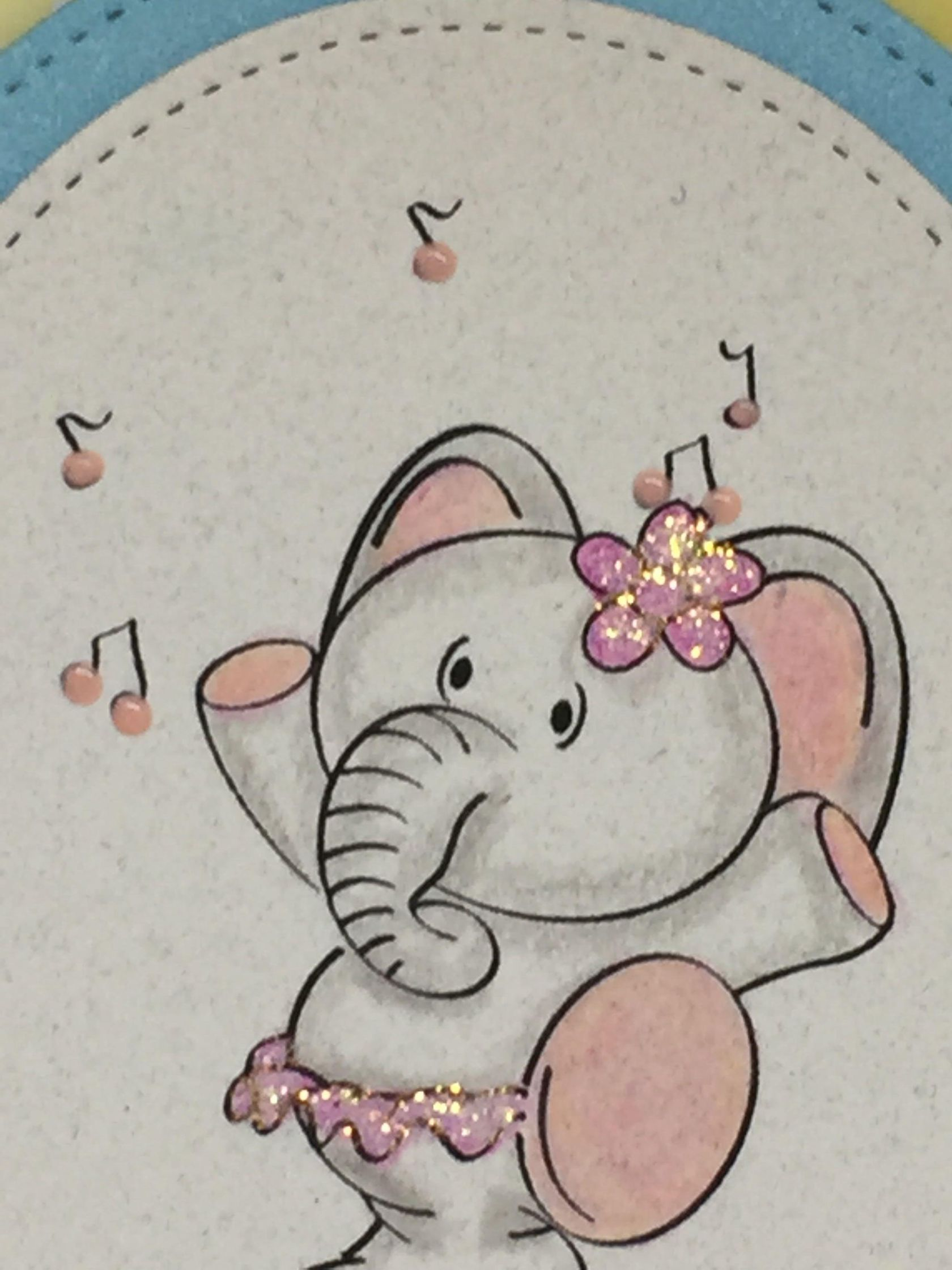 Elly The Elephant Juggling Digital Stamp by Sasayaki Glitter ...