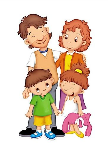 Aile Anne Baba Cocuk Family Picture Cartoon Family Cartoon Art Wall Kids