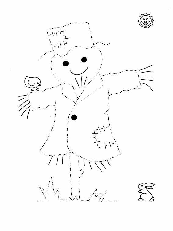 Actividades para niños preescolar, primaria e inicial. Grafomotricidad Unir puntos y colorear 128