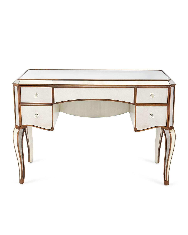 Claudia mirrored desk mirrored vanity desk makeup dresser home decor sale luxury home