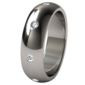 """Eclipse """"Eternity"""" customized with 8 inset 2mm gems all around"""