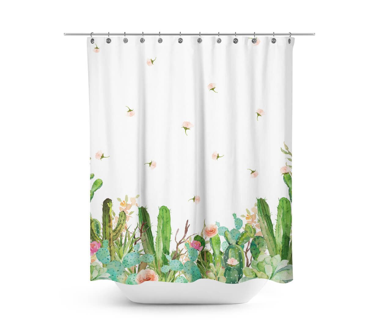 Western Floral Garden Shower Curtain