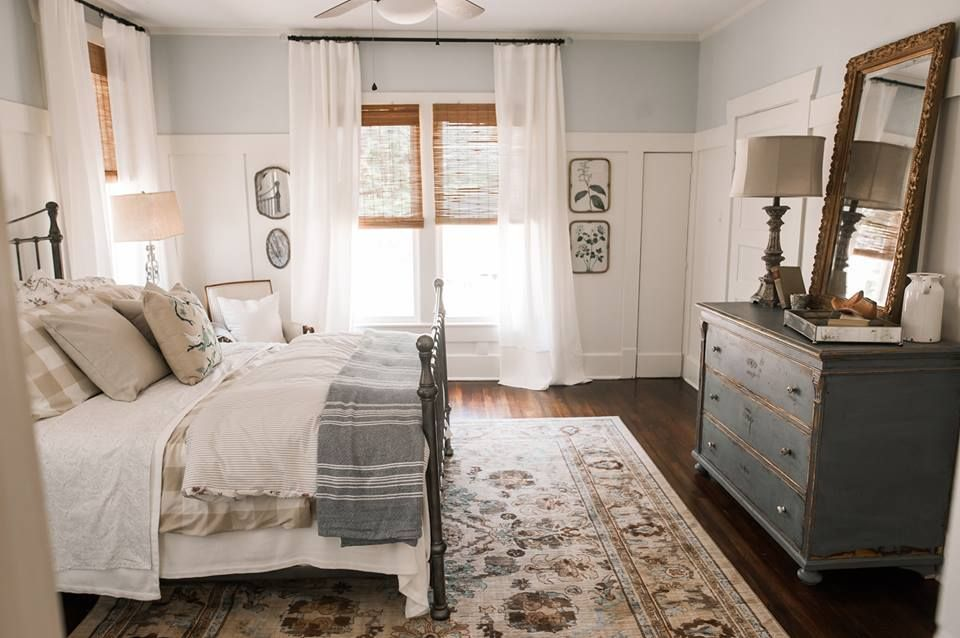 Bedroom From Hgtv S Hometown I Love These Colors With The Wood Remodel Bedroom Home Bedroom Bedroom Design