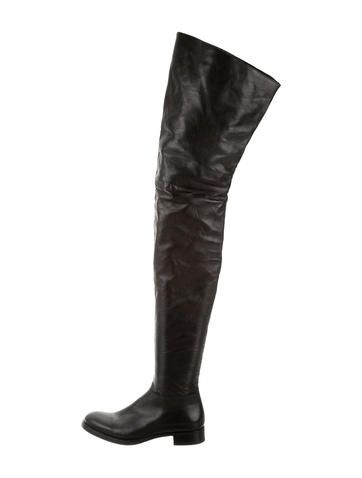 Prada Leather Thigh-High Boots