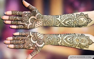 stylish and easy mehndi designs full hand