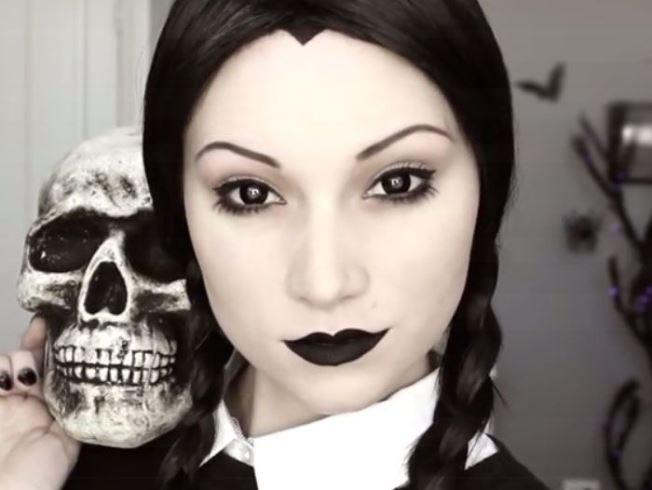 Resultado de imagem para makeup halloween vandinha