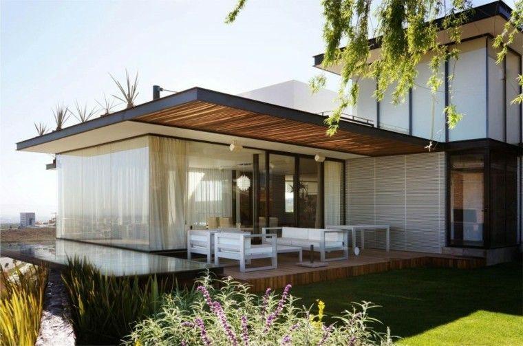 Ideas para terrazas, patios o balcones acogedores Muebles blancos