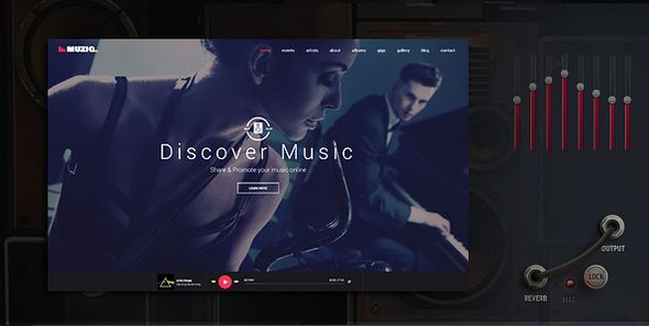 Muziq – Music Band & Musician WordPress Theme | Pinterest