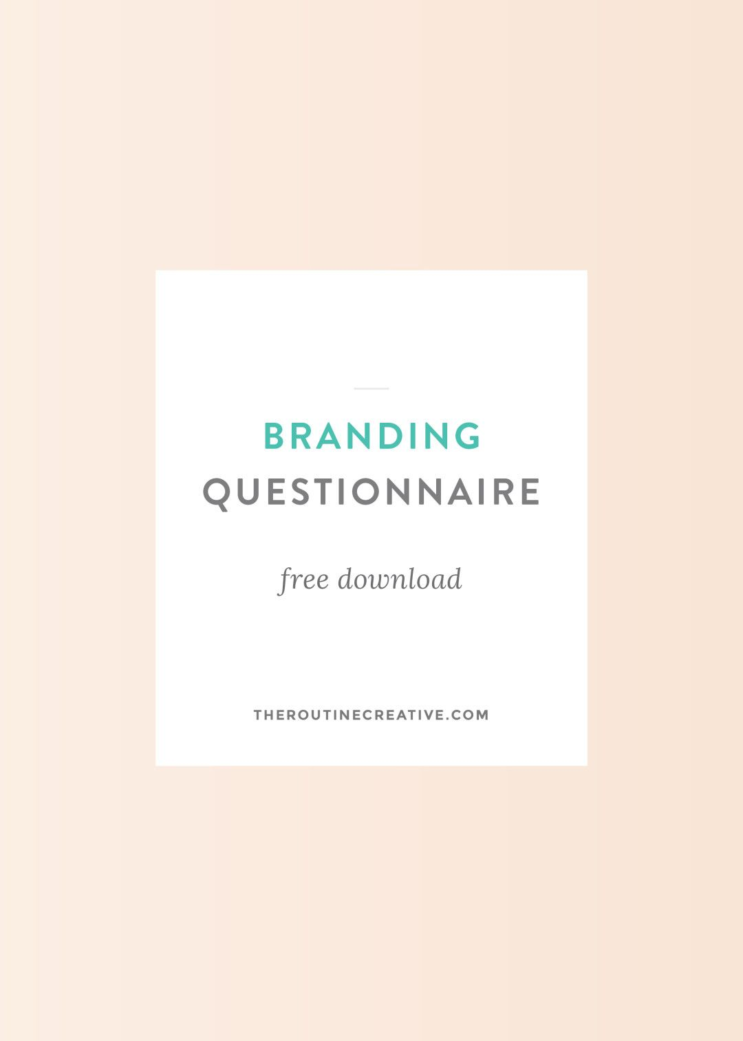 Free branding questionnaire resource for clients and other graphic business free branding questionnaire malvernweather Gallery