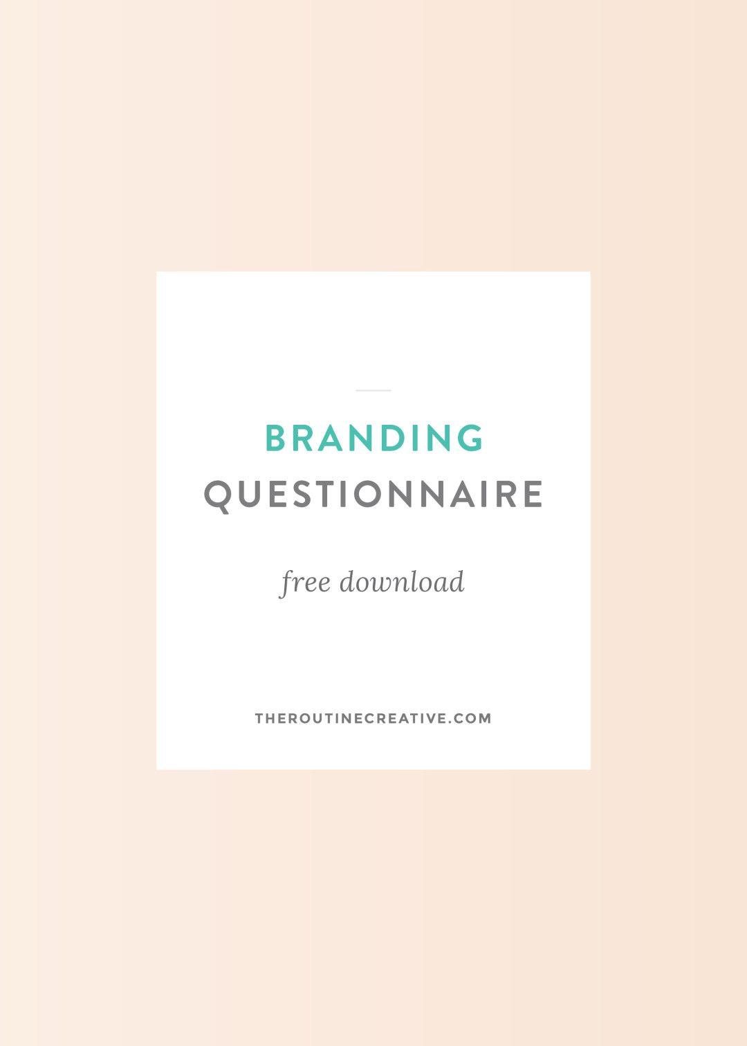Graphic Design Questionnaire For Clients